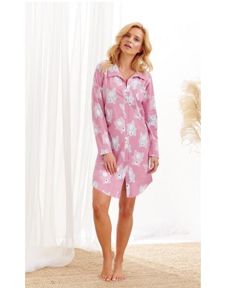 Taro Koszula 1191 Dalia AW/20 - Kolor 01 - Różowy pudrowy