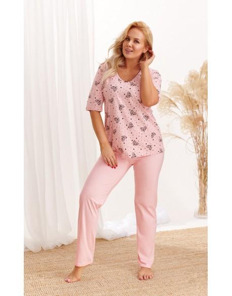 Taro Piżama Lidia 2465 AW/20 - Kolor 01 - Różowy pudrowy