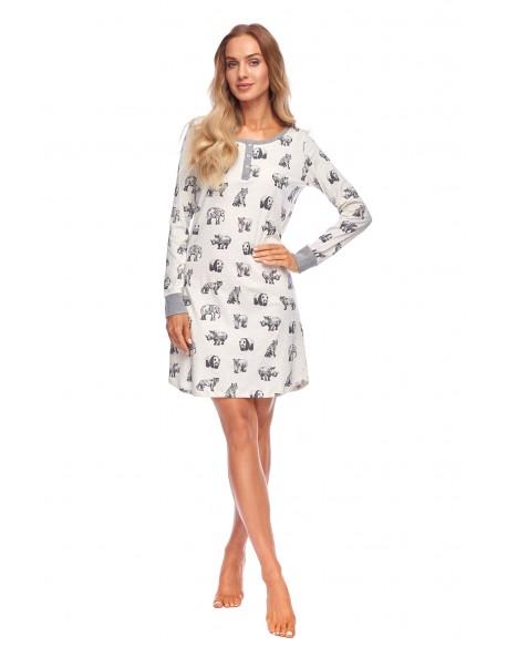 Rossli Koszula Claudia SAL-ND-2038 Jasnoszara