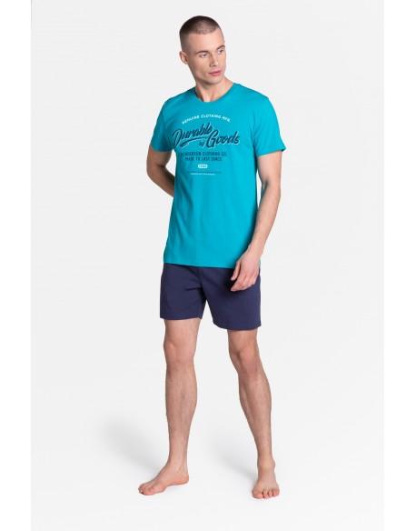 Henderson Piżama Laze 38868-69X Niebiesko-Granatowa