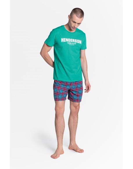 Henderson Piżama Lid 38874-69X Zielono-Niebieska