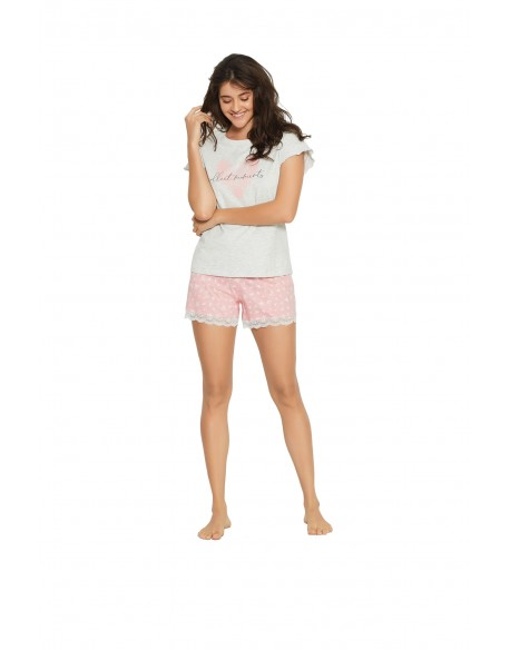 Henderson Ladies Piżama Forever 38062-90X Szaro-różowa
