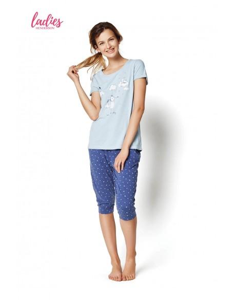Henderson Ladies Piżama Rakel 35255-50X Niebieska