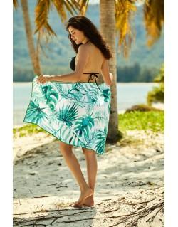 Ręcznik plażowy Ferry 70x140cm 38130-76X Biało-Zielony