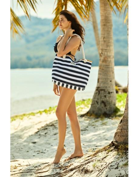 Henderson Ladies Torba plażowa Feliss 51x33cm 38131-99X Biało-czarny