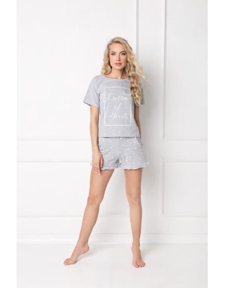 Aruelle Piżama Hearty Short Grey