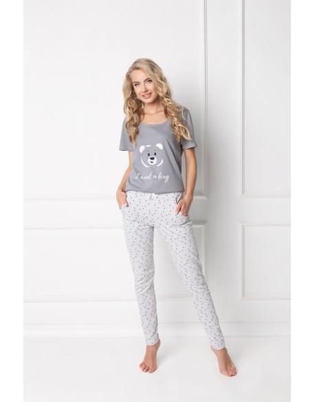 Aruelle Piżama Huggy Bear Long Grey