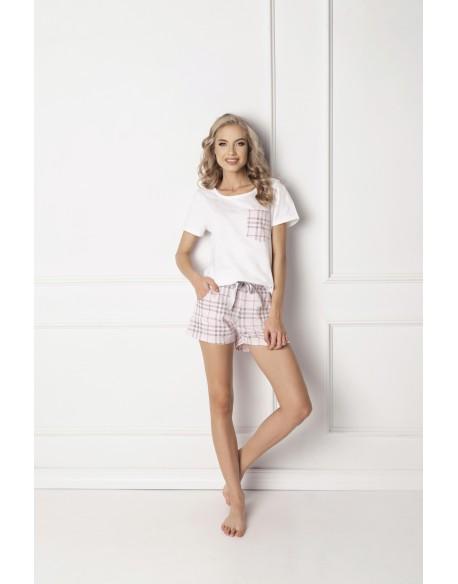 Aruelle Piżama Londie Short White